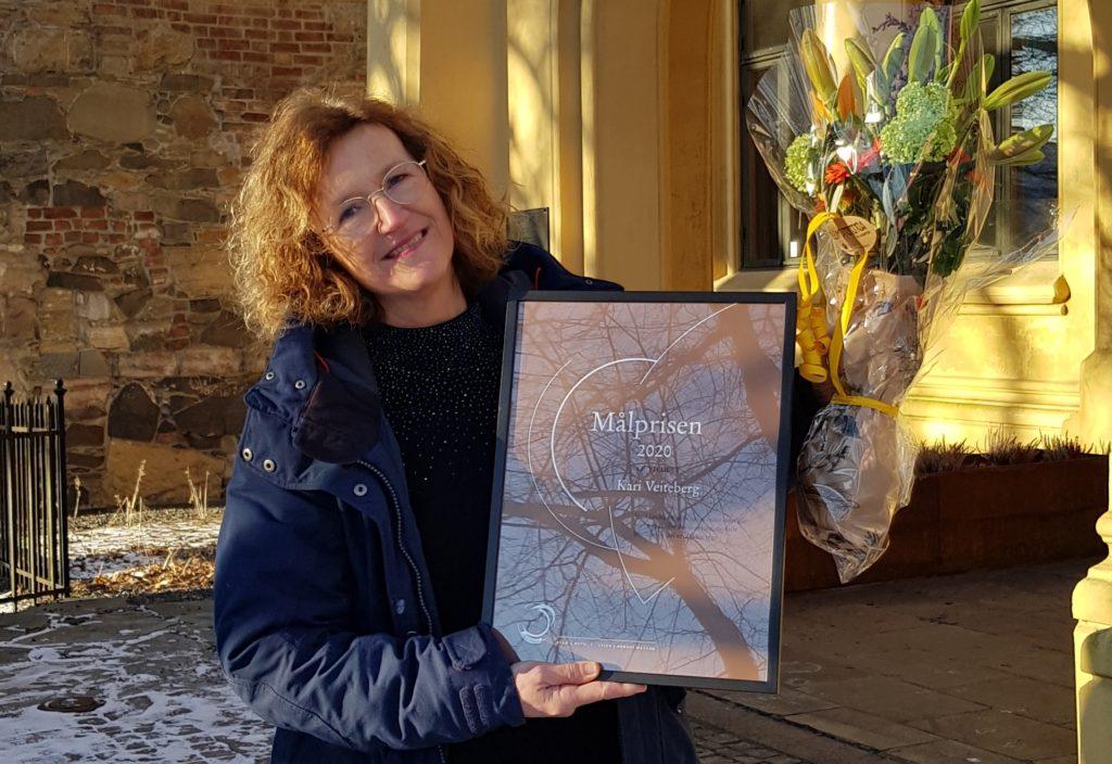 Målprisen  2020  til  Kari  Veiteberg